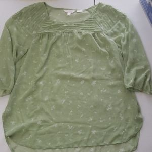 LC green sheer blouse